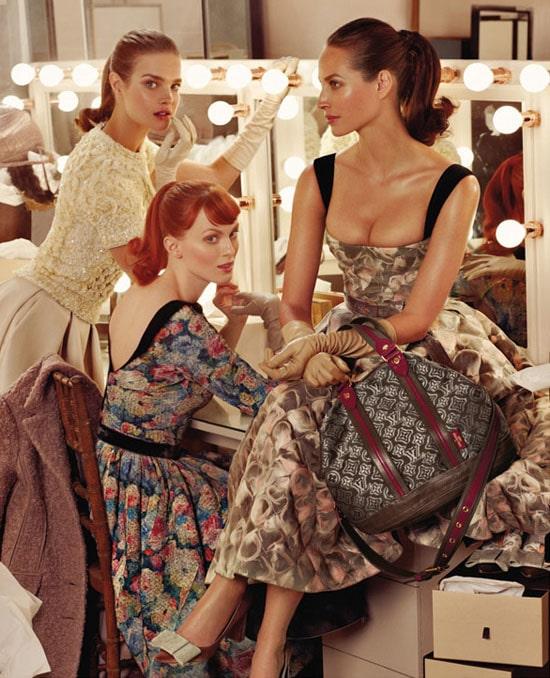 Christy, Karen et Natalia en mode rétro pour Louis Vuitton