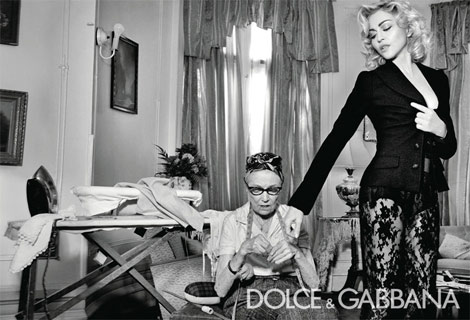Madonna pour Dolce & Gabbana campagne publicitaire automne/hiver 2010