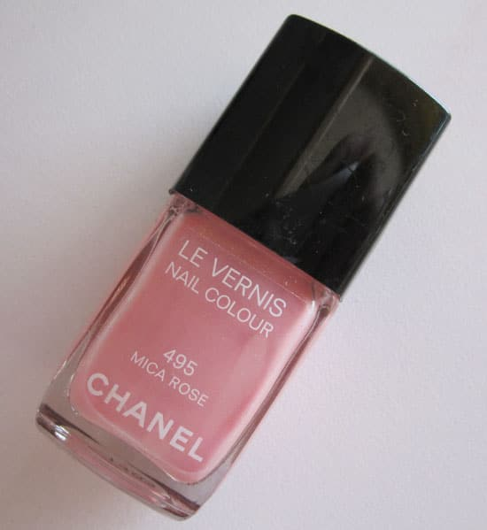 "Vernis ""Mica rose"" 495 Chanel swatch, test, photos"
