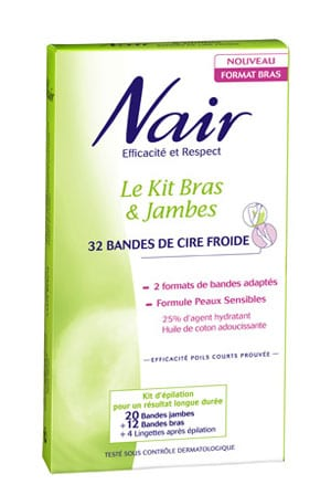 nair kit bras et jambes cire froide