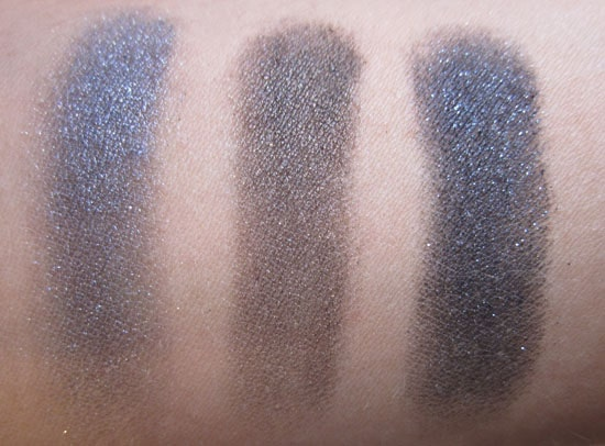 Ombre solo Dior (argentic, flash black, bronzy night) swatch, test, photos