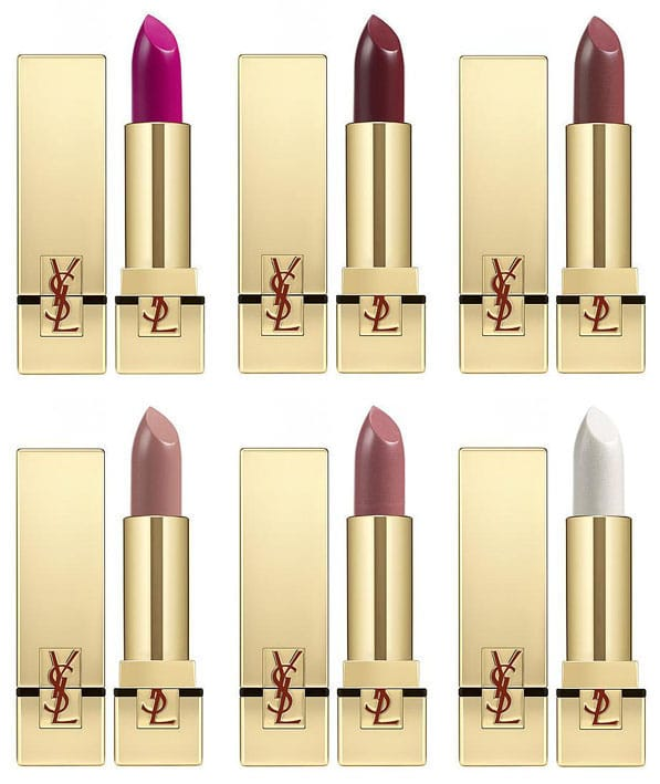 rouges pur couture ysl teintes
