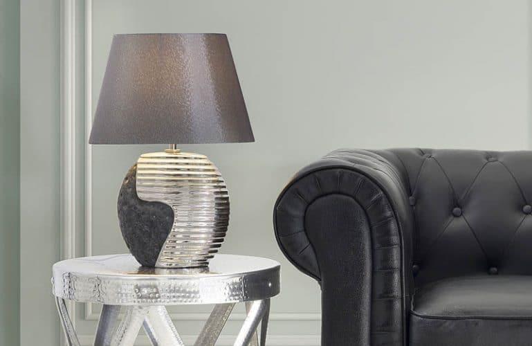 Salon contemporain lampe à poser
