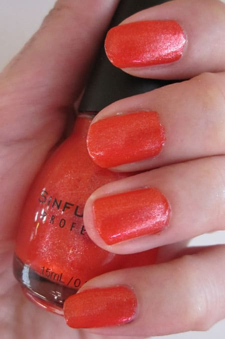Vernis Sinful colors Red diamond swatch