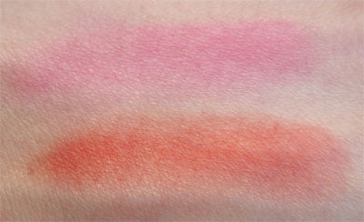 "Blush ""Rouge passion"" et ""Fushia tentation"" YSL swatch, test, photos"