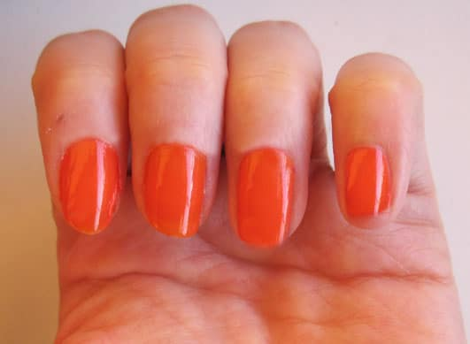 Vernis Ultra orange YSL Solaris été 2010, swatch, test photos
