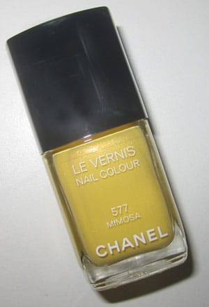 "Vernis ""Mimosa"" Chanel swatch, test, photos"