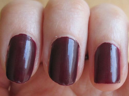 Dior vernis black plum swatch
