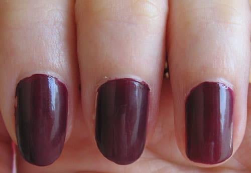 Dior vernis black plum swatch