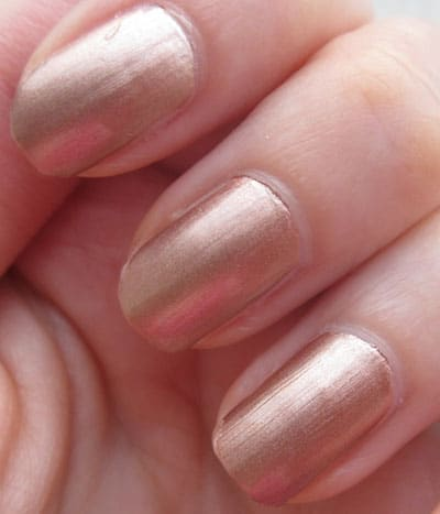 "Vernis laque YSL ""pink gold"" swatch, test, photos"