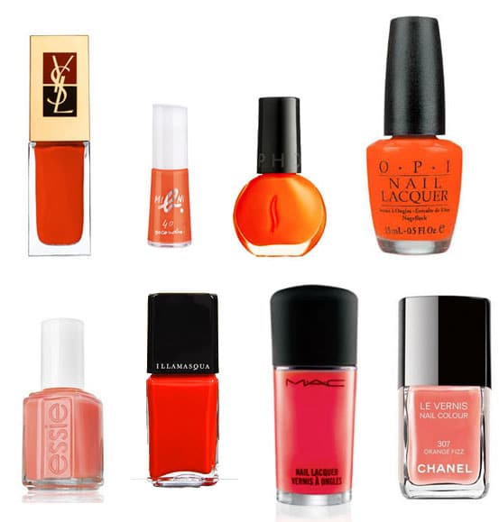 Shopping beauté : Le vernis orange et corail
