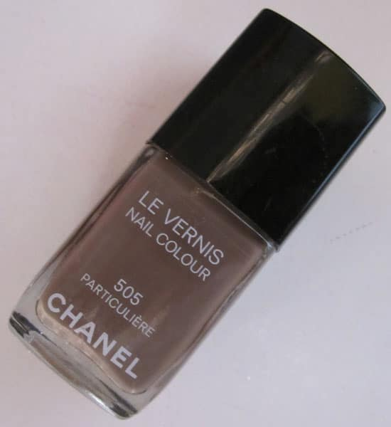 "Vernis 505 ""Particulière"" Chanel swatch, test, photos"