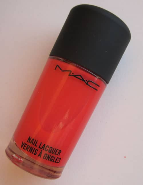 "Test, photos, swatch vernis ""Scorcher"" to the beach MAC"